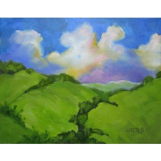 """Plein Air """"California Hills"""" Landscape Painting by Lynne French For Sale"""