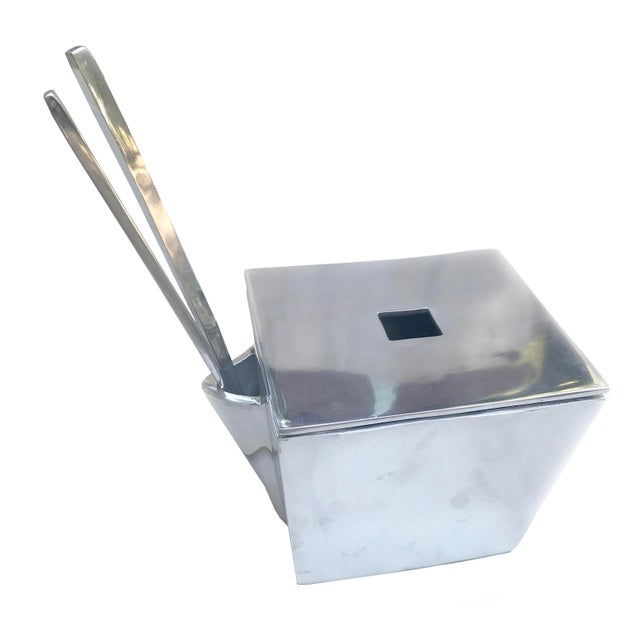 Lunares San Francisco Cast Aluminum Chinese Take-Out Lidded Box With Chopsticks For Sale In Raleigh - Image 6 of 6