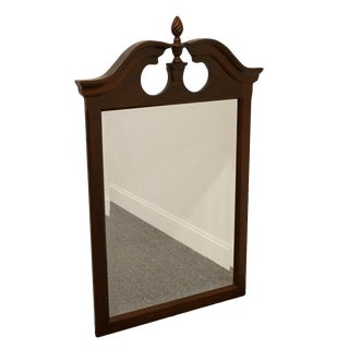 Late 20th Century Vintage Kincaid Commonwealth Piedmont Cherry Pediment Mirror For Sale