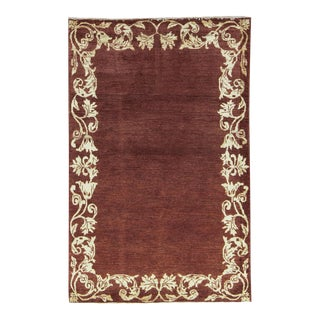 Contemporary Hand Woven Rug - 4' X 6' For Sale
