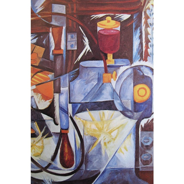 Abstract 1973 Abstract Cubist Exhibition Poster, Gontcharova For Sale - Image 3 of 5