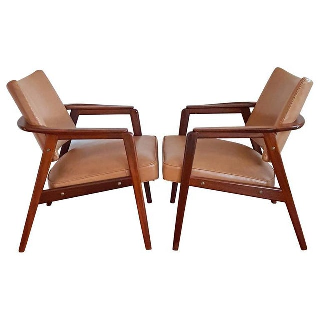 Plastic 1950s Mid Century Sigvard Bernadotte Inspired Lounge Chairs - a Pair For Sale - Image 7 of 7