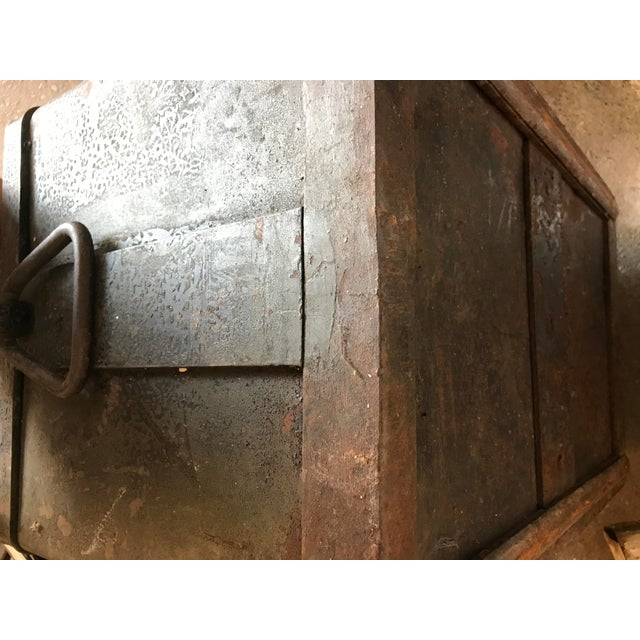 Solid Iron Antique Train Lock Box - Image 8 of 10