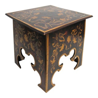 English Arts and Crafts Painted Storage Table
