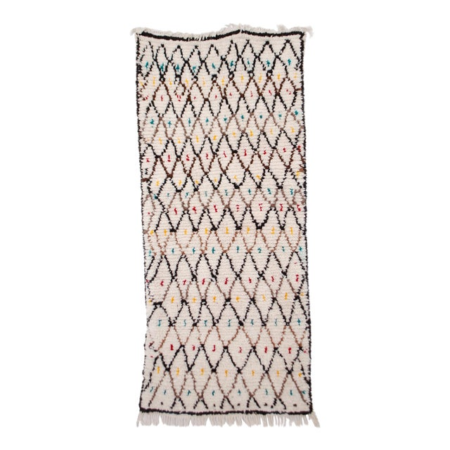 Moroccan Azilal Runner - 2′10″ × 7′ For Sale