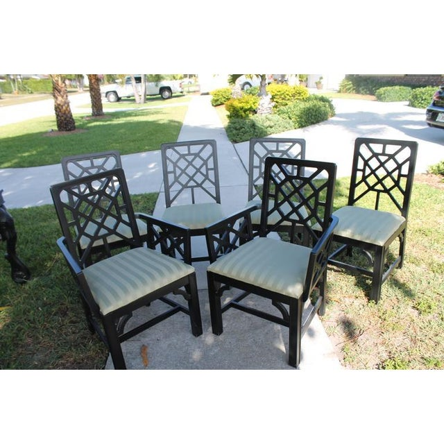 Fretwork Chinese Chippendale Dining Chairs - Set of 6 - Image 4 of 10