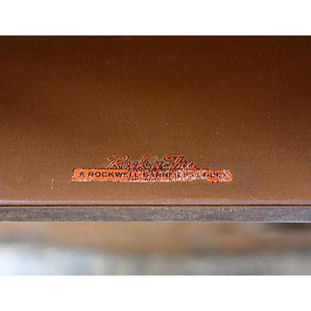 Faux Wood Metal File Cabinet - Image 5 of 6