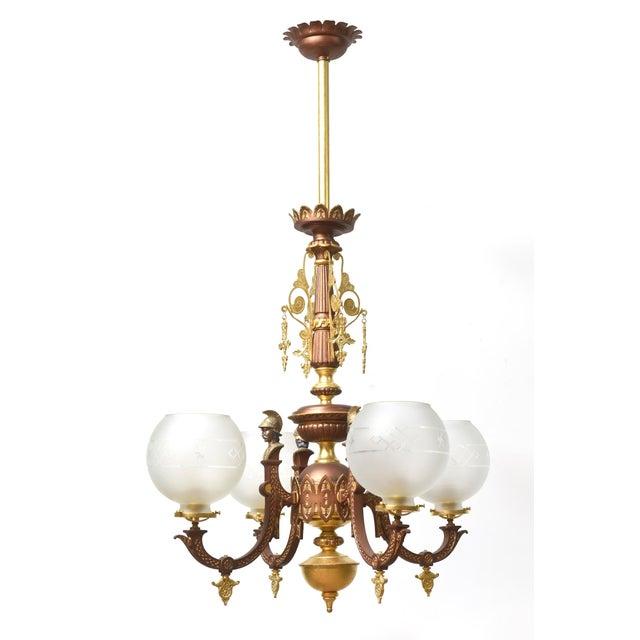 Four Arm Greek Revival Kolokotronis Chandelier For Sale - Image 11 of 11