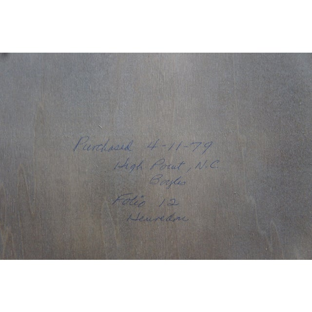 "1979 Henredon Oak Octogon Shaped Traditional Vanity Dresser Wall Mirror 48"" For Sale - Image 10 of 11"