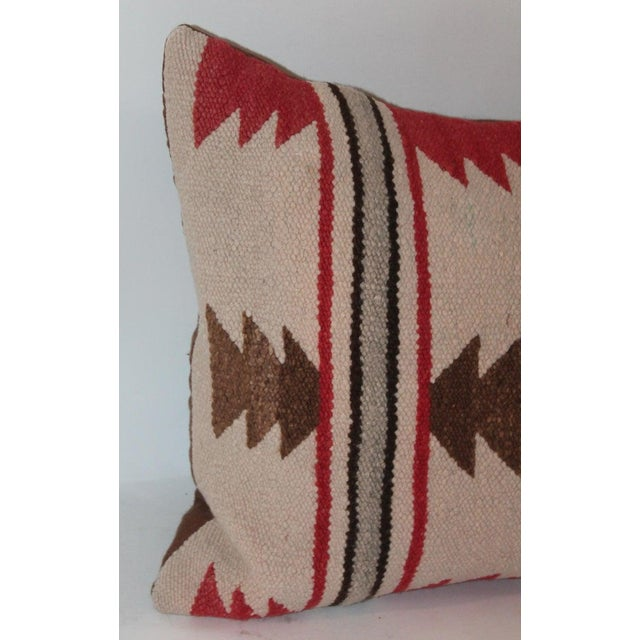 Navajo Indian Saddle Blanket Pillows - Set of 3 For Sale - Image 10 of 11