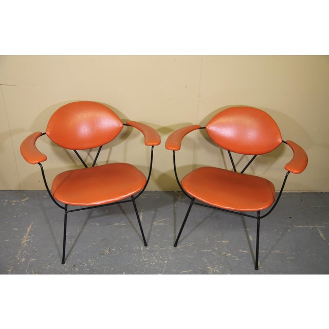 Rare 1950s lounge chair designed by Joseph Cicchelli for Reilly-Wolff of Astoria NY. These all original chairs are in...