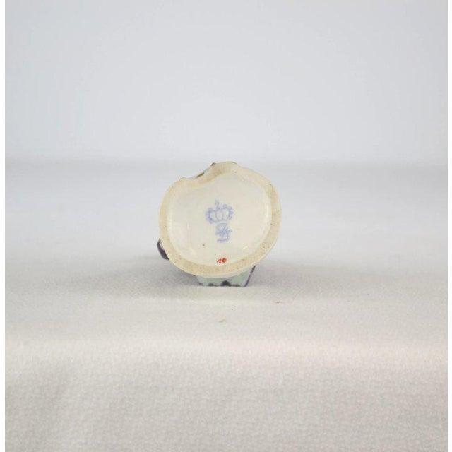 Antique Porcelain Monkey Musician, from Germany, Purple Coat For Sale In Denver - Image 6 of 8
