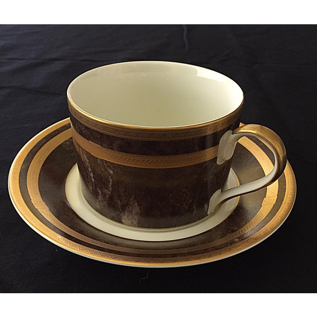 Mikasa Mahogany Florentine Luncheon or Dessert China Set - 18 Pieces For Sale - Image 4 of 13