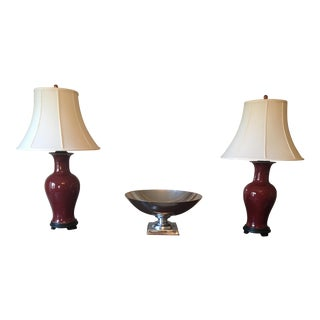 Oxblood Lamps - a Pair For Sale