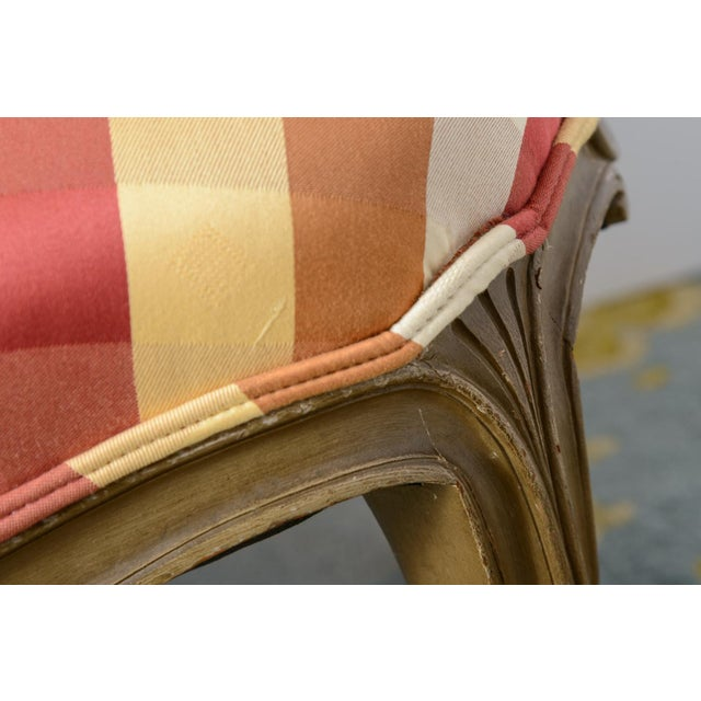 Wood Late 19th Century Painted French Fauteuils - a Pair For Sale - Image 7 of 11