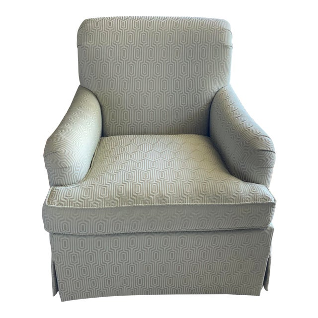 Hickory Colefax Blue Chair For Sale