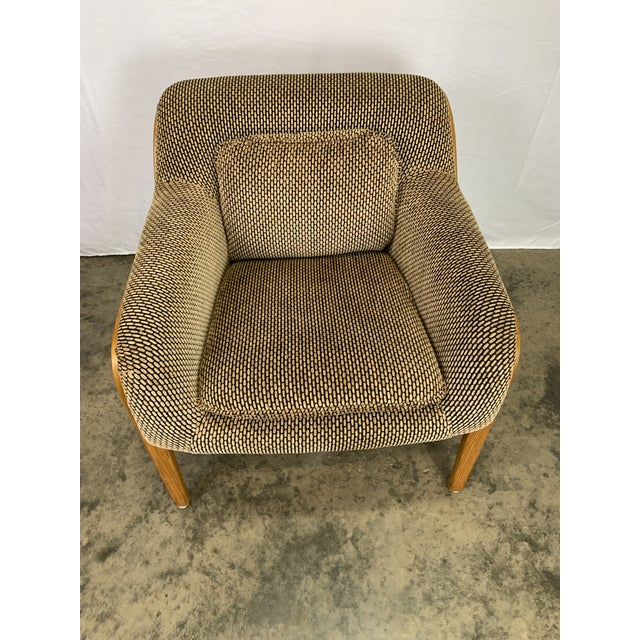 Wood 1970s Bill Stephens for Knoll Lounge Chairs - Set of 4 For Sale - Image 7 of 10