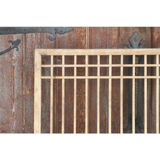 Asian Early 20th Century Geometric Lattice Window Panel For Sale - Image 3 of 10