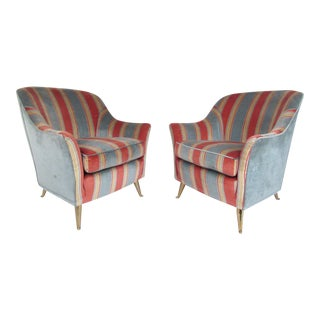 Pair Italian Modern Club Chairs