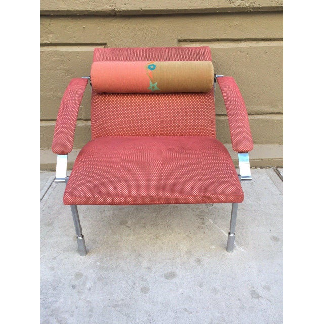 Italian Pair of Saporiti Lounge Chairs For Sale - Image 3 of 6