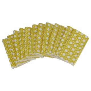 Retro Lattice Dinner Napkins - Set of 12