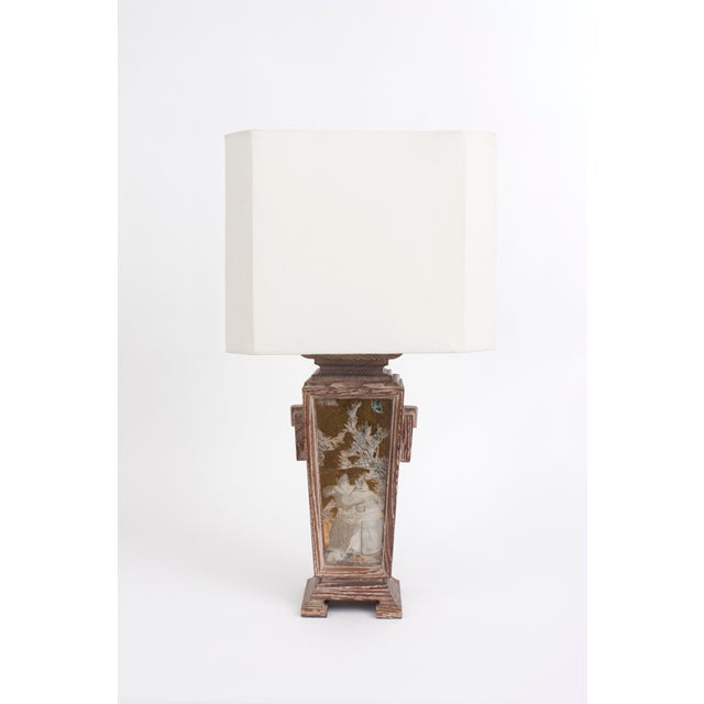 Asian James Mont Asian Cerused Oak Lamp For Sale - Image 3 of 7