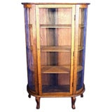 Image of Antique Victorian Oak Display Cabinet For Sale