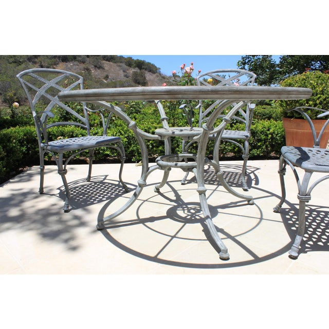 French French Iron Garden Dining Set - 5 Pieces For Sale - Image 3 of 5