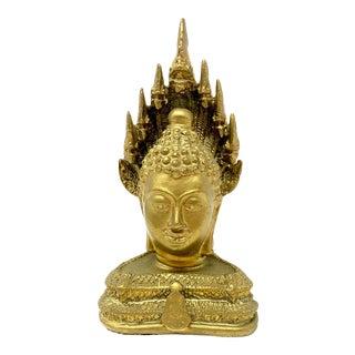 Vintage Gold Buddha Bust For Sale