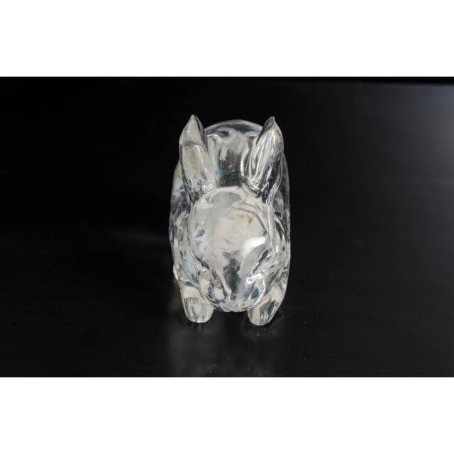 Robert Kuo Rabbit in Hand Carved Crystal by Robert Kuo, Limited Edition For Sale - Image 4 of 6