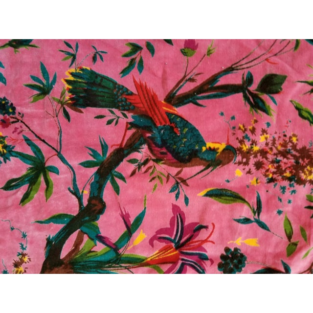Cotton Chinoiseri Bird Textile, Pink - 13 Yards - Image 2 of 5