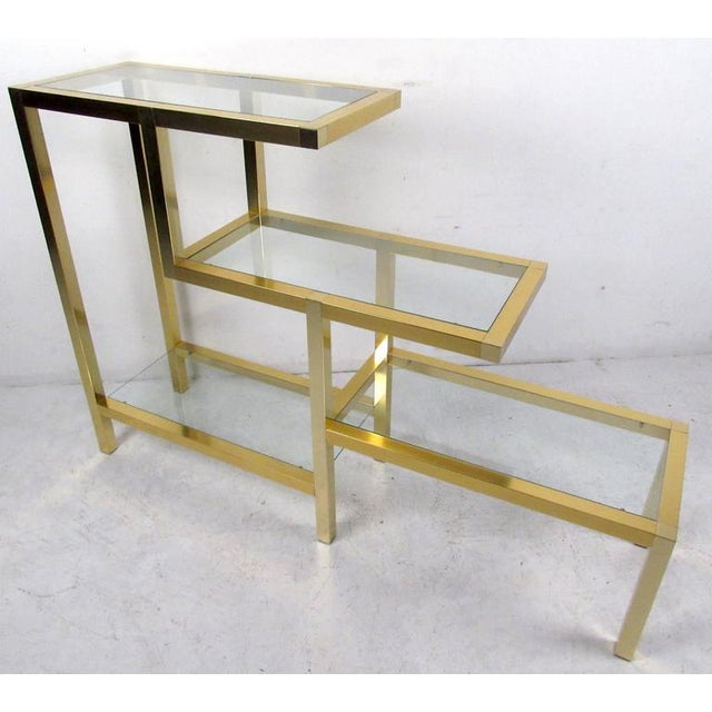 Mid-Century Baughman Style Four-Tier Display Unit For Sale - Image 5 of 6