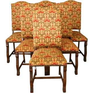 Vintage Dining Chairs Renaissance Style - Set of 6 For Sale