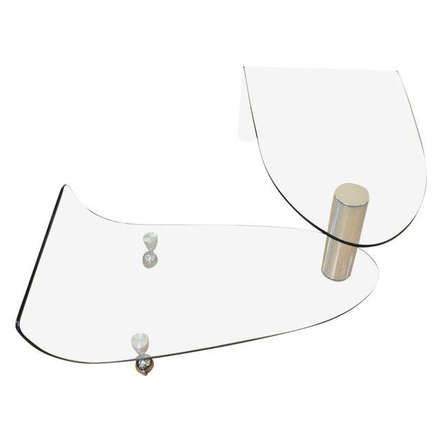 Glass Swivel Coffee Table.Fiam Italia Articulating Glass Swivel Coffee Table