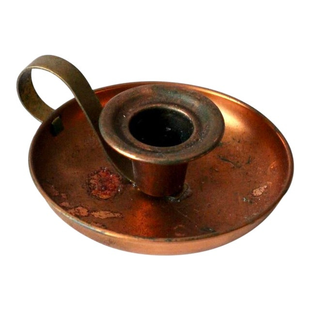 Vintage Coppercraft Guild Copper Chamberstick For Sale