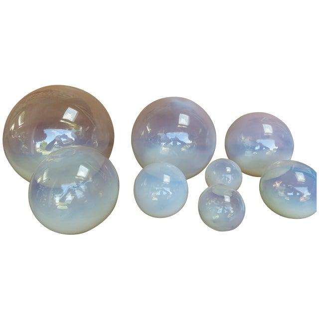 Glass Blown Art Glass Balls - Set of 8 - Image 1 of 8