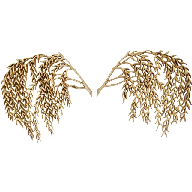 Vintage Burwood Weeping Willow Wall Decor - Pair - Image 1 of 4