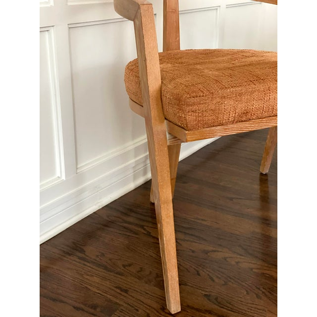 Mid Century Modern Cerused Oak Sculptural French Chairs - a Pair For Sale In Los Angeles - Image 6 of 11