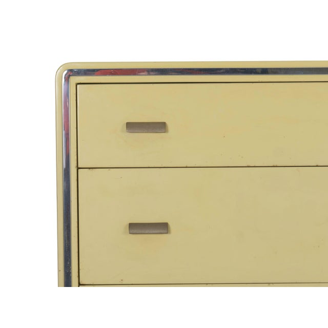 Circa 1930s Art Deco Yellow Enamel Chest of Drawers Dresser by Norman Bel Geddes For Sale - Image 6 of 13