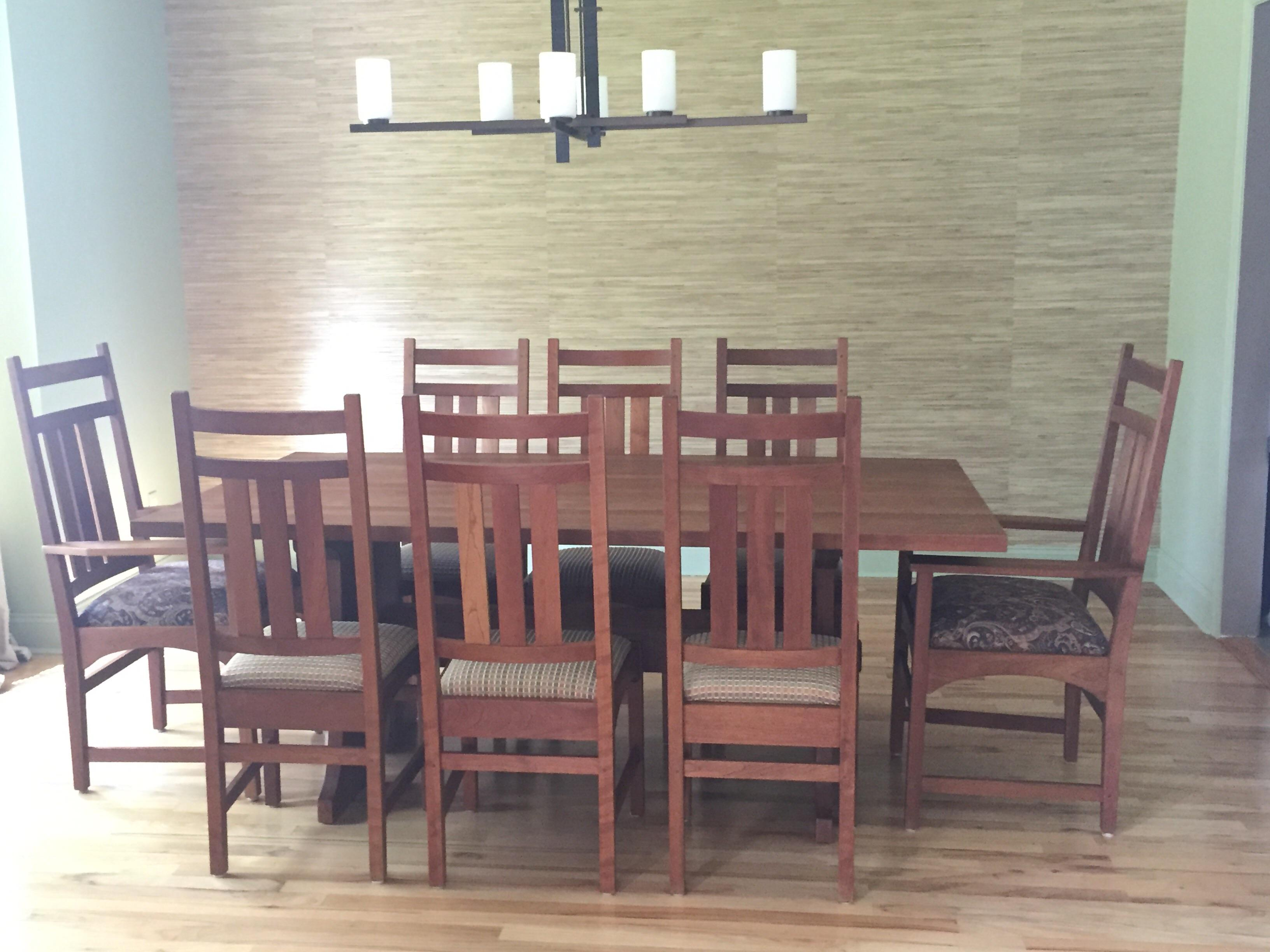 Stickley Mission Cherry Dining Table U0026 8 Chairs   Image 2 ...