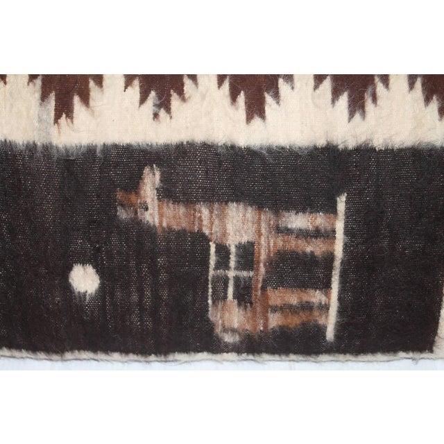Primitive Fantastic Peruvian Indian Lama Lambs Wool Bolster Pillow For Sale - Image 3 of 4