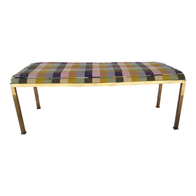 1960s Vintage Solid Brass Bench For Sale