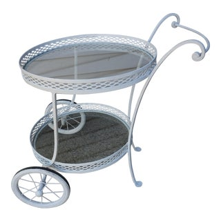 French Style Wrought Iron Bar Cart For Sale
