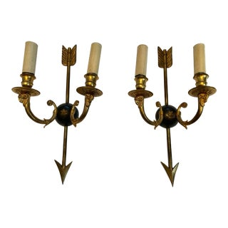1920s Regency Style Wall Sconces - a Pair For Sale