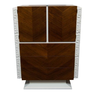 Lacquered Brutalist Tall Dresser by United Furniture For Sale
