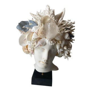 Contemporary Shell-Encrusted Hygiea Head For Sale