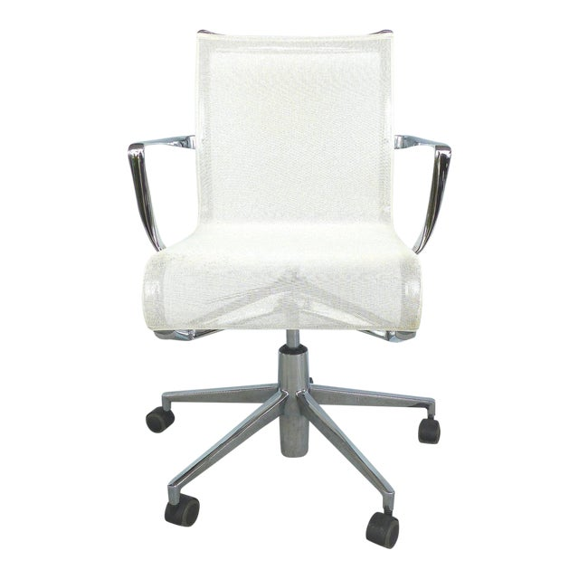 Rolling Frame Swivel Chair with Armrests by Alberto Meda for Alias, Italy For Sale
