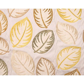 Hinson for the House of Scalamandre Palmer Fabric in Yellow For Sale