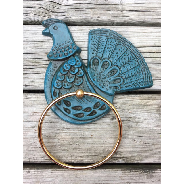 Syroco Wall Mount Blue Bird Towel Ring - Image 2 of 3