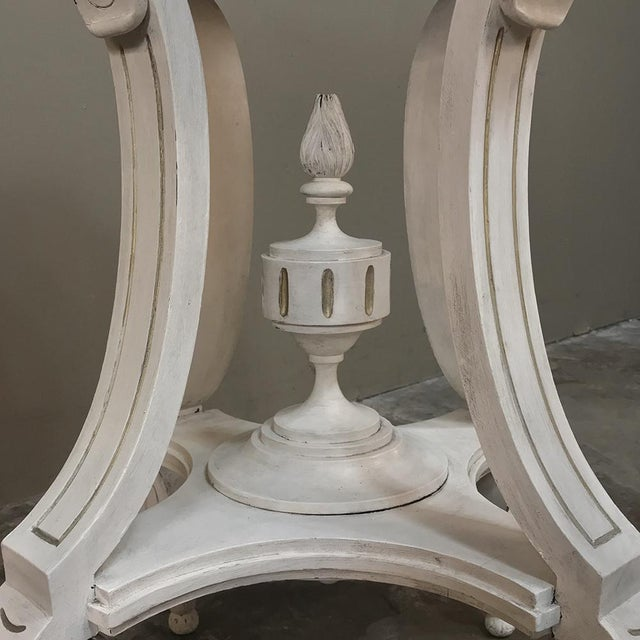 Mid 19th Century 19th Century French Henri II Painted Lamp Table ~ Pedestal For Sale - Image 5 of 11